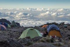 Lager Kilimanjaro Barranco lizenzfreie stockfotos