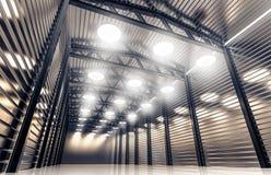 Lager mit Retro- Lampen der Weinlese Lizenzfreie Stockfotografie