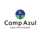Lager-Mond-draußen Erholungs-Logo Stockfotografie