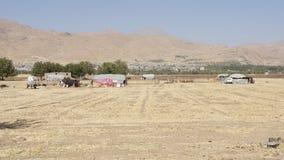 Lager von Nomaden, der Iran, Asien stockfoto