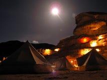 Lager-Wadi-Rum, JORDANIEN Stockbild