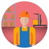 Lagerarbetare royaltyfri illustrationer