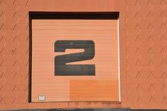 Lagerdörr nummer 2 i St Johns, nära Portland, Oregon arkivfoto