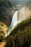 Lagere Dalingen Yellowstone Stock Afbeeldingen