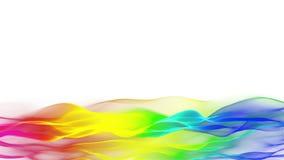 Lagere derden kleurrijke abstracte stromende achtergrond, vaag golfeffect stock footage