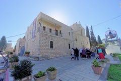 Lagere Galilee, Israël - 18 februari 2017 Orthodox klooster van de Transfiguratie van Lord bij Onderstel Tabor binnen Stock Foto
