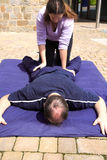 Lagere lichaams Thaise massage royalty-vrije stock fotografie