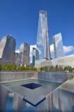 Lagere mahattan en Één World Trade Center Royalty-vrije Stock Afbeelding