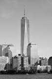 Lagere mahattan en Één World Trade Center Stock Afbeeldingen
