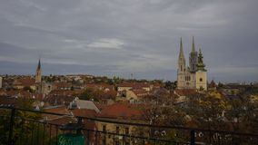 Lagere Stad, Zagreb stock afbeelding