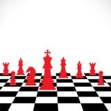 Modigt begrepp för schack Arkivfoton