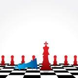 Modigt begrepp för schack Arkivfoto