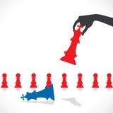 Modigt begrepp för schack Arkivbilder