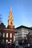 Lagerföra bilden av Boston horisont, Boston, USA Royaltyfria Foton