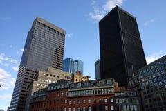 Lagerföra bilden av Boston horisont, Boston, USA Royaltyfri Fotografi