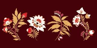 Lagerföra den arabisk uppsättningen av den flolar buketten som är orientalisk eller, Ryssland t arkivfoton