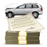 Pengar för den brutna bilen Royaltyfria Bilder