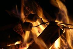 Lagerfeuer bei Kathio Stockbild