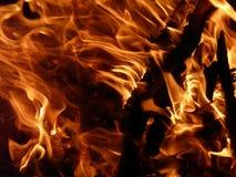 Lagerfeuerdetail Stockfoto