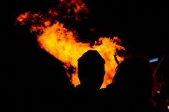 Lagerfeuerfeuer Lizenzfreie Stockfotografie