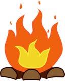 Lagerfeuervektorillustration lokalisiert auf weißem Hintergrund Lizenzfreie Stockfotografie
