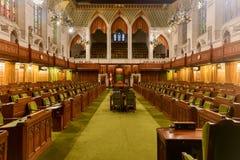 Lagerhuis van Parlementsgebouw - Ottawa, Canada stock foto