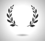 Lagerkranssymbol Tecken av härlighet som isoleras på vit EPS Arkivbild