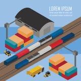 Lagerledning på järnväg bussgarage vektor illustrationer