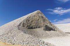 Lagern Sie Produktion in einem Steinbruch für die Extraktion des Lehms ein Stockfotografie