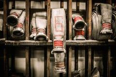 Lagerraum im feuerbekämpfenden Depot stockbilder