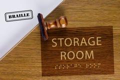 Lagerraum-Zeichen Lizenzfreies Stockfoto