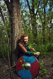 Lagertha in a forest Stock Photo