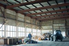 Lagerung auf Abfallbehandlungs-Anlage Stockfotos