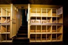Lagerung des Geldes in undeground Depotverwahrung von Bank Stockfotos