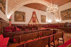 Lagfakultetklassrum - universitetar av Salamanca Royaltyfri Fotografi
