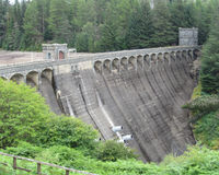 Laggan Hydroelectric Dam, Scotland. Loch Laggan Hydroelectric Dam, near Roy Bridge in the Scottish Highlands. It opened in 1934 and is now a grade A listed Stock Photos