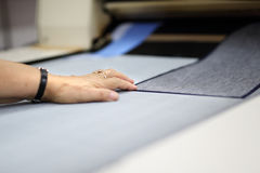 Lagging machine. Work in sewing Stock Photography