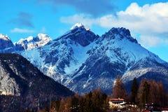 Laggio di Cadore, красивые горы Dolomiti, Италия стоковое изображение rf