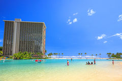 Laggon στην παραλία Waikiki Στοκ Εικόνα