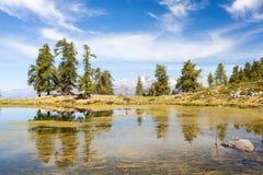Free Laghetto Delle Zocche - On The Background Monte Disgrazia - Valtellina IT Stock Photo - 172249810