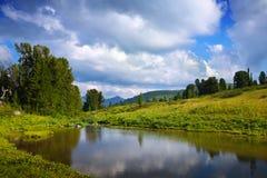 Laghi Ayryk in montagne di Altai Fotografie Stock