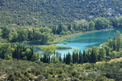 Laghi Bacina in Croazia Fotografia Stock Libera da Diritti