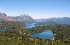 Laghi in Bariloche. L'Argentina. Fotografia Stock Libera da Diritti