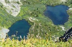 Laghi blu della montagna Fotografie Stock Libere da Diritti