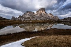 Laghi dei Piani, Dolomites, Italy royalty free stock images