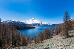 Laghi della valle di Engadine in Svizzera Immagini Stock