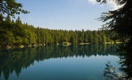 Laghi di fusine/laghi Fusine/jezera di Belopeska, Italia Immagini Stock Libere da Diritti