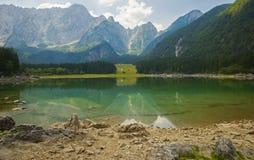 Laghi di fusine/laghi Fusine/jezera di Belopeska, Italia Fotografia Stock