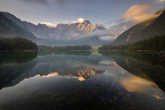 Laghi di fusine,moutain lake in Italian Alps Royalty Free Stock Images