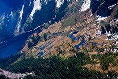 Laghi e fiumi di Misty Fjords immagini stock libere da diritti